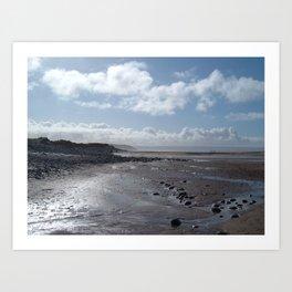 NORTHAM BURROWS BEACH NORTH DEVON Art Print