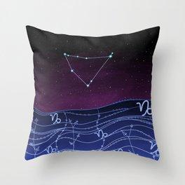 Capricorn Zodiac Constellation Design Throw Pillow