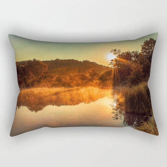 Sunrise at the lake/Sonnenaufgang am See Rectangular Pillow