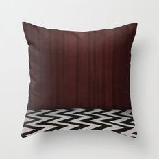 Black Lodge / Red Room Twin Peaks Throw Pillow