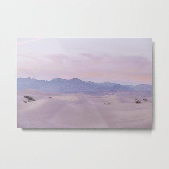 Pink Desert Sunset Metal Print