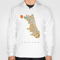 chicago Hoodies featuring Chicago by Nicksman