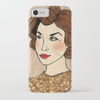 dale cooper iPhone & iPod Cases featuring TWIN PEAKS Audrey Horne Loves Dale Cooper by Lindsey Caneso
