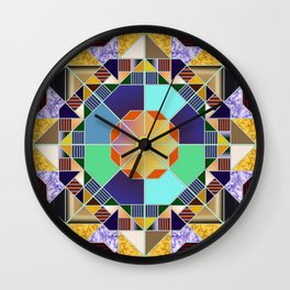 Octagonal geometric pattern abstract Wall Clock