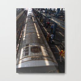 Subway Seen from Above Metal Print