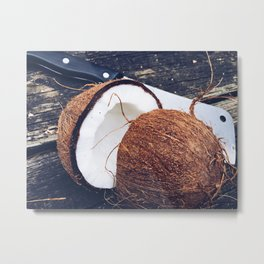 Coconut on the Table Metal Print