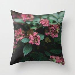 Hydrangeas in the Garden Throw Pillow