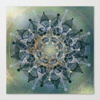 chakra Canvas Prints featuring Heart Chakra by brenda erickson