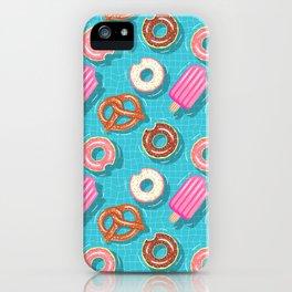 Poolparty doughnuts, pretzel,lollies iPhone Case