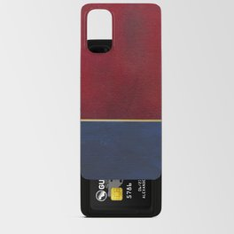 Deep Blue, Red And Gold Abstract Painting Android Card Case