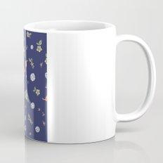 Floral with Birds on blue Mug