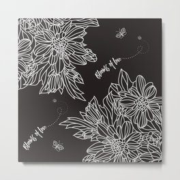 Blooms of Love_Cocoa Bean Metal Print