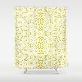 Not Your Nana's Brocade: Mustard Shower Curtain