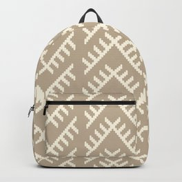 Stitched Arrows in Tan Backpack