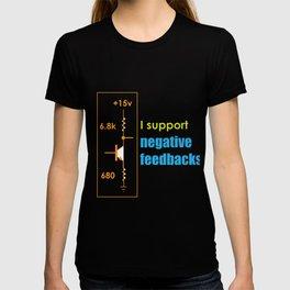 Funny Feedback Tshirt Designs I support Negative feedbacks T-shirt