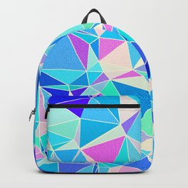 Colorful Low Poly Pattern Backpack