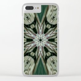 The Green Unsharp Mandala 7 Clear iPhone Case