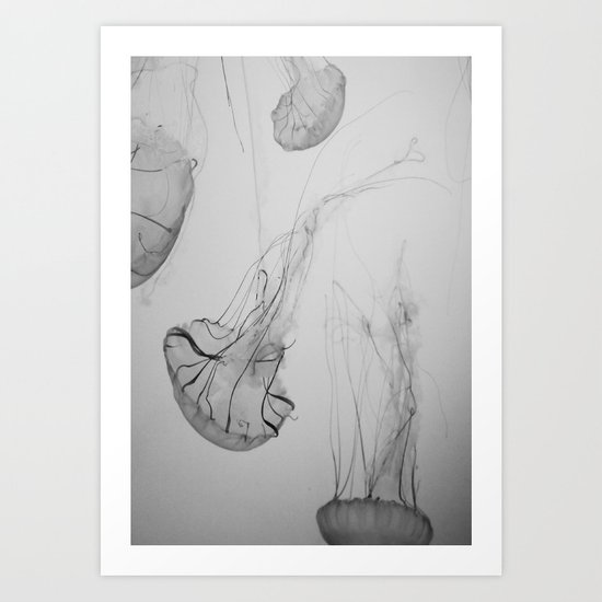 Descending Jellies Art Print