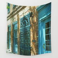doors Wall Tapestries featuring Close Some Doors by Elke Meister