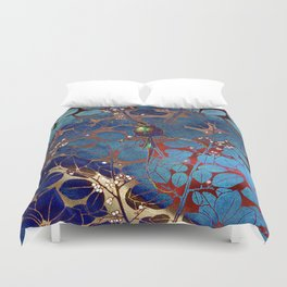Singing Crow - Irridescent Duvet Cover