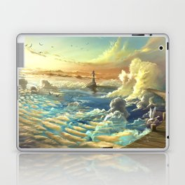 on shore of the sky Laptop & iPad Skin