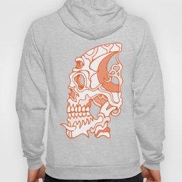 Orange death mask Hoody