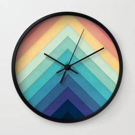 Retro Chevrons 002 Wall Clock