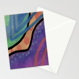 Colorful Absrtact Digital Painting Stationery Cards