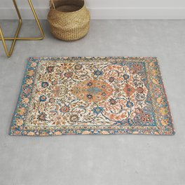 Isfahan Antique Central Persian Carpet Print Rug