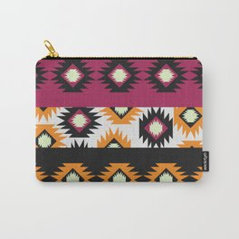 Ethnic shapes in purple and yellow Carry-All Pouch