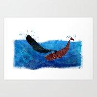 Selk'nam Whales Art Print
