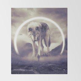 aegis II | wolf Throw Blanket