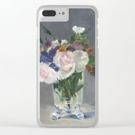 Edouard Manet - Flowers In A Crystal Vase Clear iPhone Case