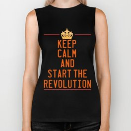 This is the awesome revolutionary Tshirt Those who make peaceful revolution Start the revolution Biker Tank