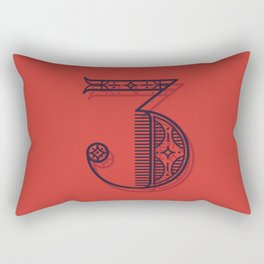 Alphabet Drop Cap Series Rectangular Pillow