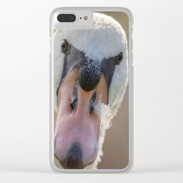 Angry Swan Clear iPhone Case