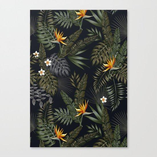night tropical pattern Canvas Print