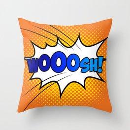 Wooosh ! Throw Pillow