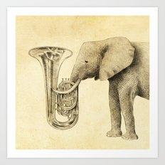 Tuba Art Print