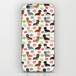 Dachshund weener dog donuts cutest doxie gifts for small dog owners iPhone Skin