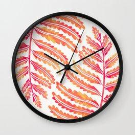 Fern Leaf – Peachy Pink Palette Wall Clock