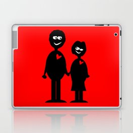Couple Holding Hands Laptop & iPad Skin