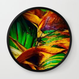 Pandanus in the Tropics Wall Clock