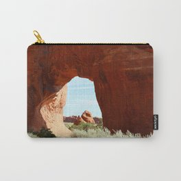 At The End Of The Trail - Pine Tree Arch Carry-All Pouch