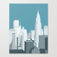 manhattan Canvas Prints featuring Manhattan by mauromod