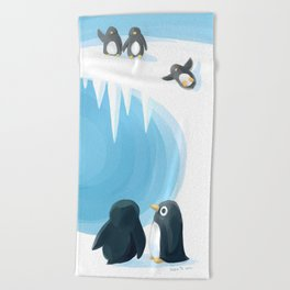 Penguin Playground Beach Towel