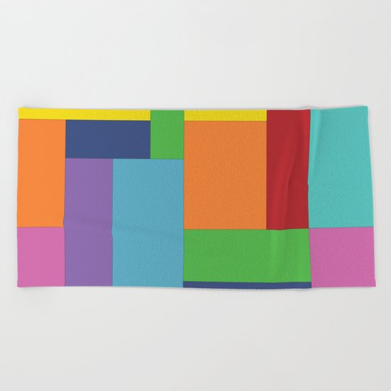 Multicolor square Beach Towel