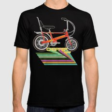 Chopper Bicycle Mens Fitted Tee Black MEDIUM