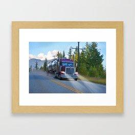 Trans Canada Trucker Framed Art Print