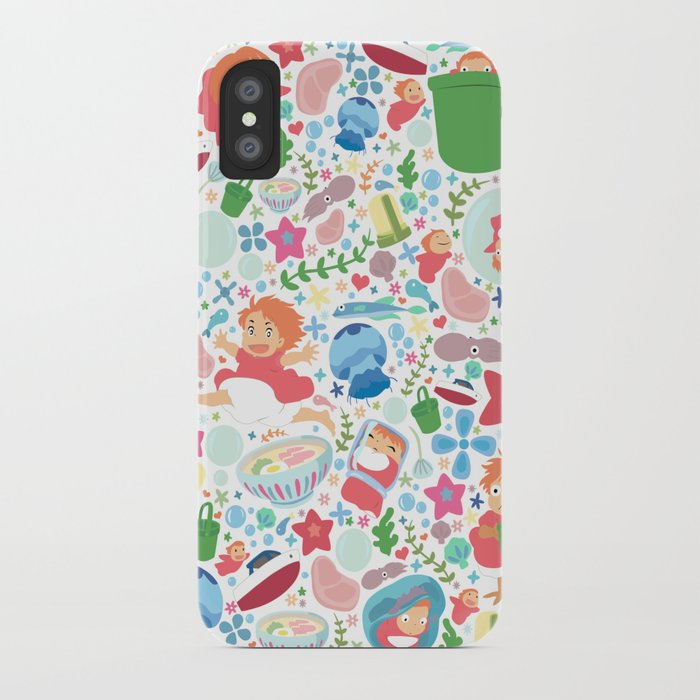 ponyo pattern - studio ghibli iphone case
